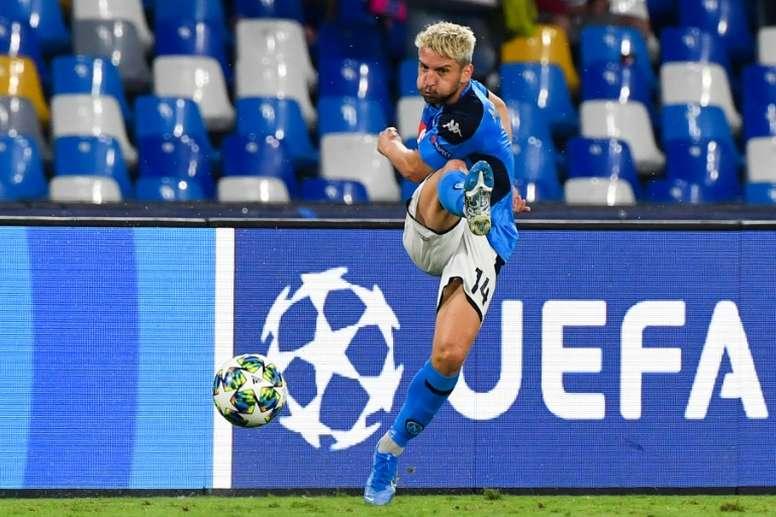 Mertens se pierde el choque ante el Torino, pero podría llegar al del Barça. AFP