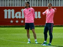 Filipe Luis s'est confié sur le départ de Griezmann. AFP