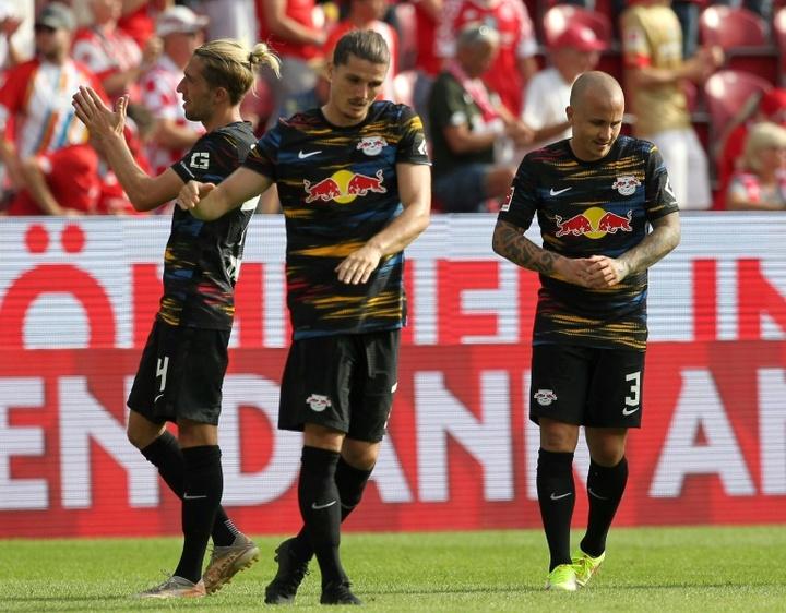 O desafortunado início do RB Leipzig na Bundesliga 21-22. AFP