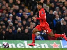Coman sort sur blessure contre Chelsea. AFP