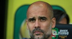 Pep Guardiola abre o jogo. AFP