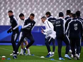 France-Moldavie: le quatuor Mbappé-Griezmann-Coman-Giroud aligné. AFP