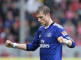 L'international allemand et joueur de Hambourg Marcell Jansen. AFP