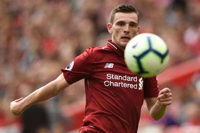 Robertson est arrivé à Liverpool en 2017. AFP