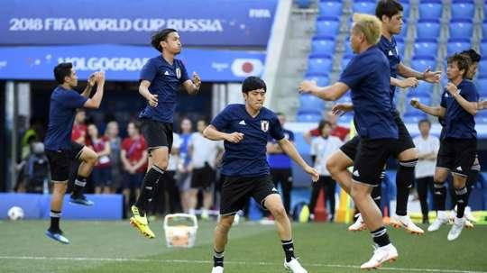 La sélection japonaise à l'entraînement. AFP