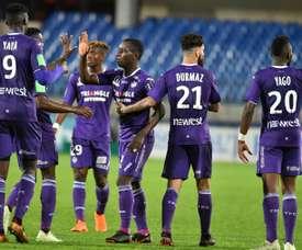 El Toulouse venció al Ajaccio por 0-3. AFP
