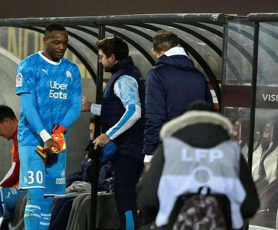Les joueurs de l'OM craignent de perdre leur entraîneur André Villas-Boas. AFP