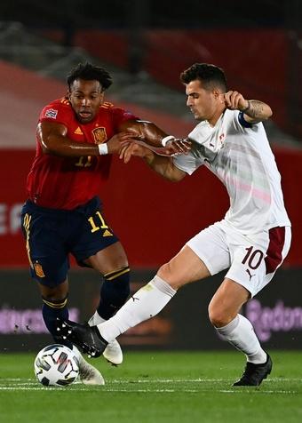 Deux cas positifs ont mis en doute la tenue du match Suisse-Espagne. AFP