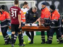 Le joueur du Gladbach a une fracture. AFP