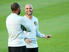 L'entraîneur de la Belgique Roberto Martinez. AFP