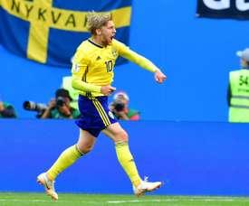 Forsberg intéresse Everton. AFP