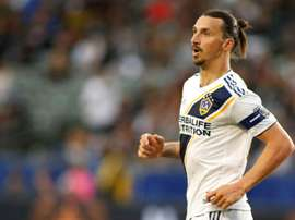 Ibrahimovic lors du match face au Real Salt Lake. AFP