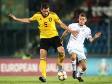 Blessé, Vertonghen ne jouera pas avec la Belgique en novembre. AFP
