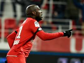 Julio Tavares buteur contre Metz à Gaston-Gérard. AFP
