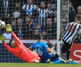 Ritchie pictured scoring against Arsenal. AFP