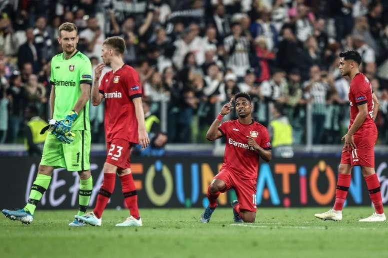 O Bayer Leverkusen perdeu seus dois primeiros jogos pela Champions. AFP