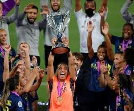 Sarah Bouhaddi désignée gardienne de l'année aux The Best. AFP