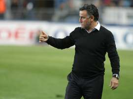 L'entraîneur de Saint-Etienne Christophe Galtier lors du match face à Bastia. AFP