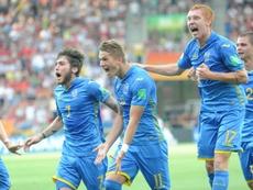 L'équipe de l'Ukraine bat celle de la Corée du Sud 3-1.