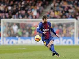 Cadiz avait demandé le prêt de Messi en 2005. AFP