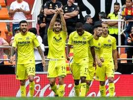 Des joueurs de Villarreal, le 21 mai 2017 à Valence. AFP