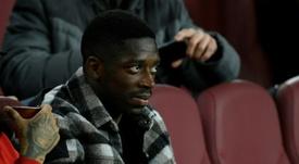 Ousmane Dembélé podría jugar con el Barcelona en Lisboa. AFP
