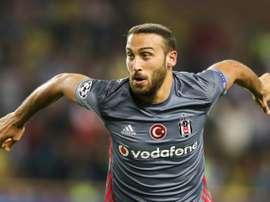 L'attaquant du Besiktas Cenk Tosun auteur d'un doublé face à Monaco en Ligue des champions. AFP