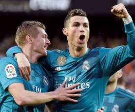 Ronaldo was spot on against Valencia. AFP