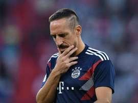 C'est dur pour Ribéry. AFP