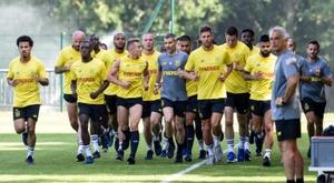 Reprise de lentraînement à La Jonelière pour les joueurs de Nantes, le 26 juin 2019. AFP