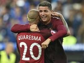 Quaresma and Ronaldo both came through the Portugal youth teams. AFP