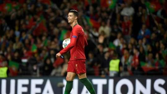 Top 3 de Cristiano Ronaldo nos melhores golos da Liga das Nações. AFP
