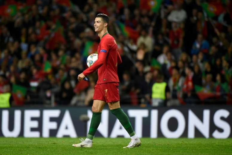 Ronaldo's hat-trick was the difference between the two sides. AFP
