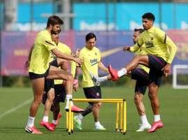 Reprise des entraînements collectifs en Espagne. AFP