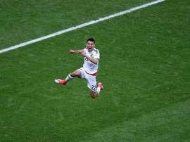 Le Mexicain fera ses débuts en LDC au Camp Nou. AFP