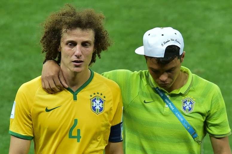 David Luiz recordó el 1-7. AFP