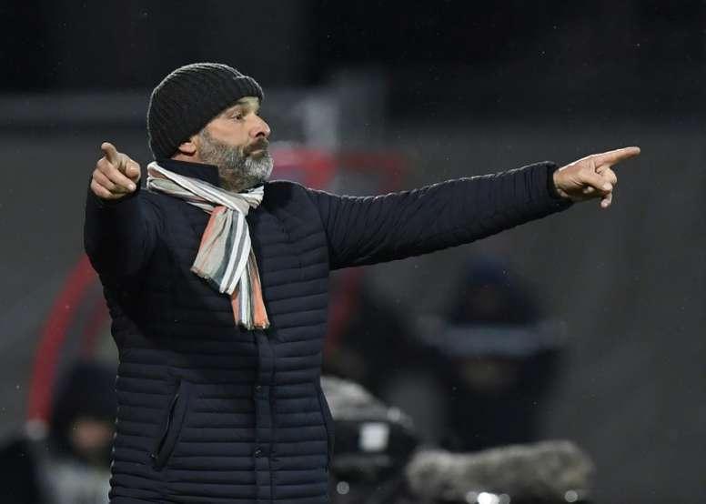 Pascal Dupraz, l'entraîneur de Toulouse, était déçu après la défaite. AFP