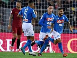 Napoli 100% vitorioso na Serie A. AFP