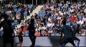 Au Havre, le stade retrouve un air de vie normale avec le retour du public. AFP