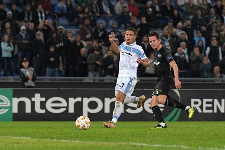 La Lazio quiere prolongar el contrato de Luiz Felipe. AFP