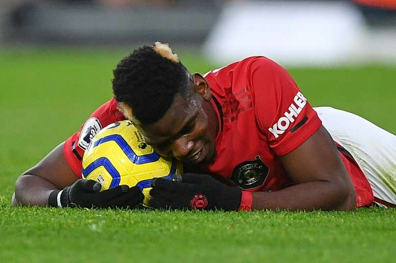 Pogba's exit from United is blocked at the moment. AFP/Archivo