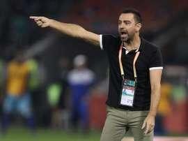 Xavi confie son souhait de retourner au Barça. AFP