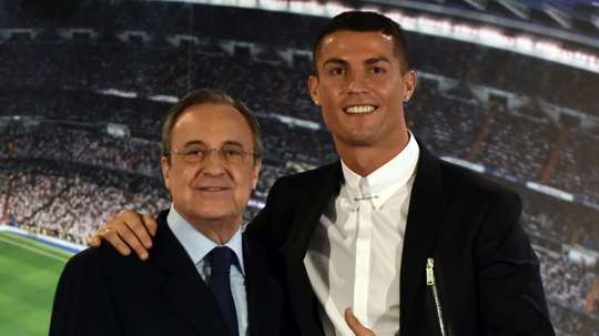 Florentino had his say on Cristiano leaving. AFP