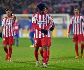 Thomas Partey at Atletico. AFP
