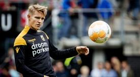 Odegaard sigue sin sitio en el Real Madrid. AFP