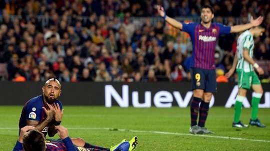 El Barça brilla en Champions, pero no en LaLiga. AFP
