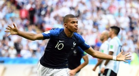Mbappe was in inspired form in Kazan. AFP
