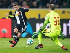 L'attaquant de Mönchengladbach Thorgan Hazard. AFP