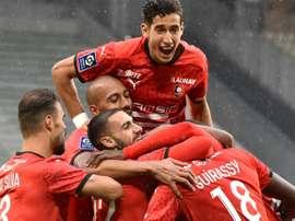 Rennes punit les Verts et prend la tête de la Ligue 1. afp