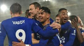 Vardy y Ayoze hicieron seis de los nueve goles del Leicester. AFP